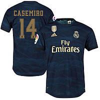 Детская футбольная форма Реал Мадрид CASEMIRO 14 сезон 2019-2020 запасная синяя, фото 1