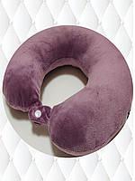 Подушка LSM для путешествий 30х30х9 сиреневая  (105-24)