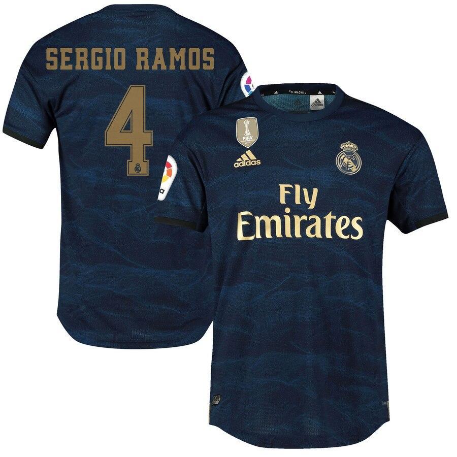 Футбольная форма Реал Мадрид SERGIO RAMOS 4  2019-2020 выездная синяя