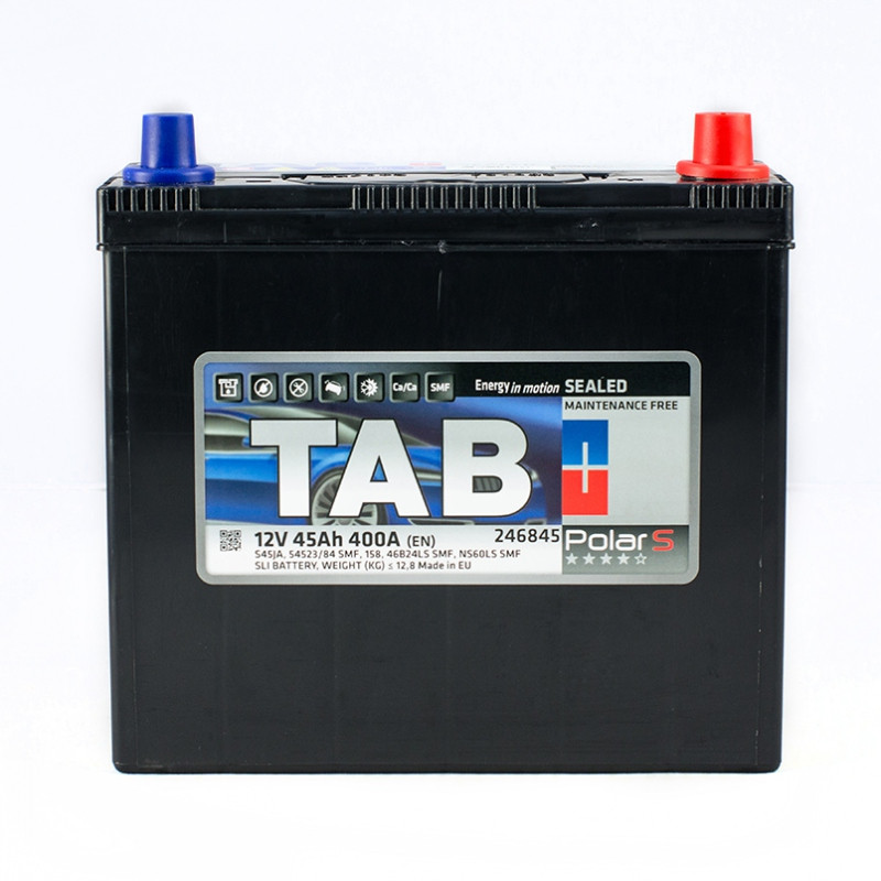 Аккумулятор TAB POLAR S 45 AH/12V EURO (0) JAPAN