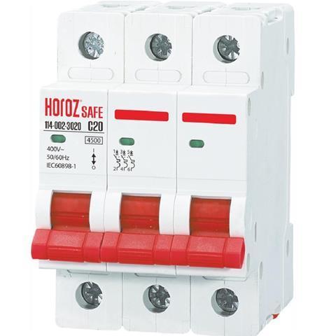 """Автоматичний вимикач """"SAFE"""" 20А 3P З"""