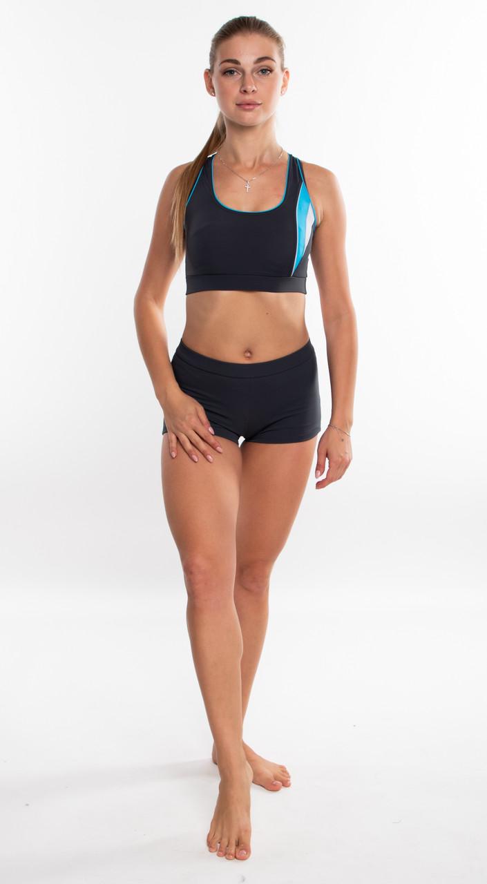 Спортивный женский купальник раздельный SHEPA 043 (original) для бассейна
