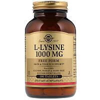 "L-Лизин SOLGAR ""L-Lysine"" 1000 мг, незаменимая аминокислота (100 таблеток)"