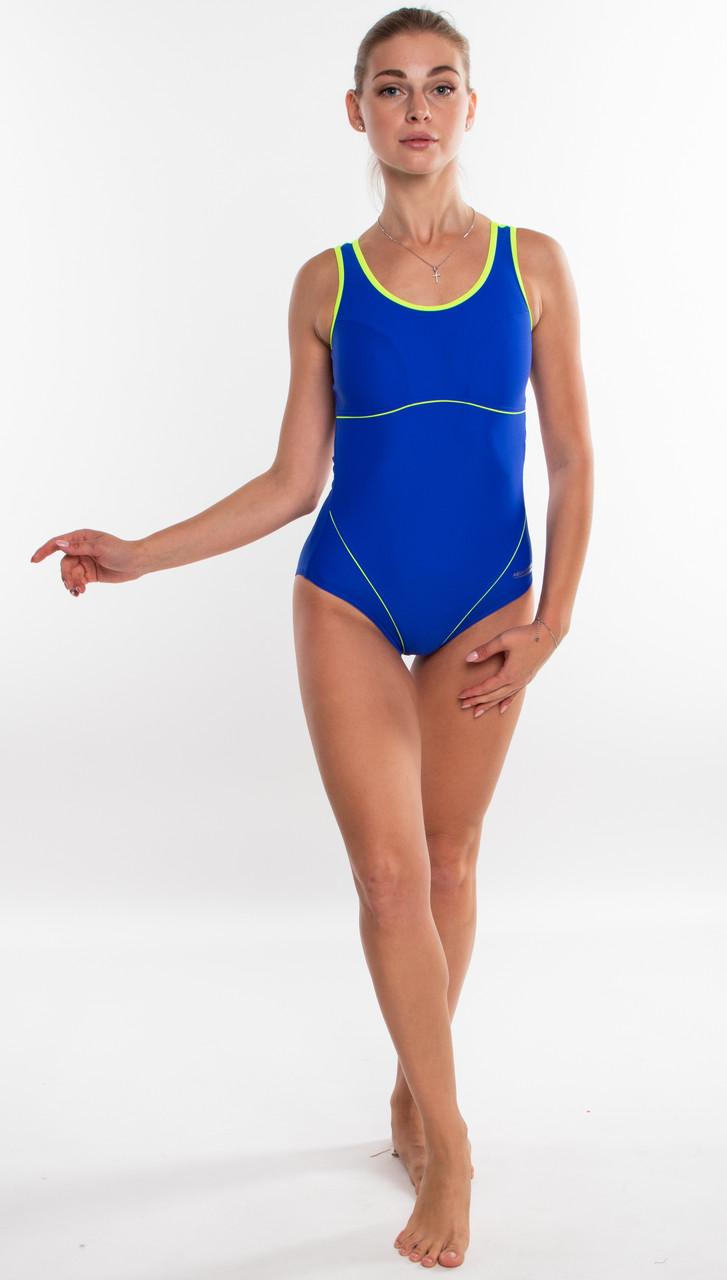 Закрытый женский купальник спортивный Aqua Speed Cora (original), цельный, слитный, для бассейна SportLavka