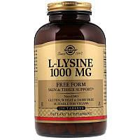 "L-Лизин, SOLGAR ""L-Lysine"" 1000 мг, незаменимая аминокислота (250 таблеток)"