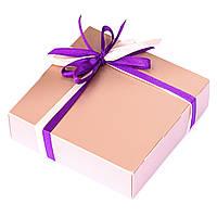 Подарок корпоративный Шоколадные конфеты ручной роботы *Коробка металик на 4шт.*