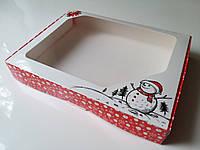 Коробка для подарка 3 см х 20 см х 15 см, Снеговик