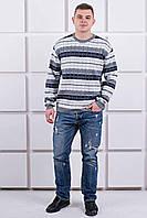 Мужской свитер Акмаль толстый (серый) #L/I 1027632253 1027632254