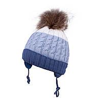 Зимняя шапка для мальчика TuTu арт. 3-004762(50-54)