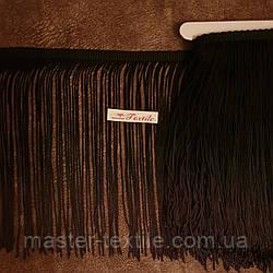 Танцевальная бахрома с градиентом 20 см ( черный / темный хаки)