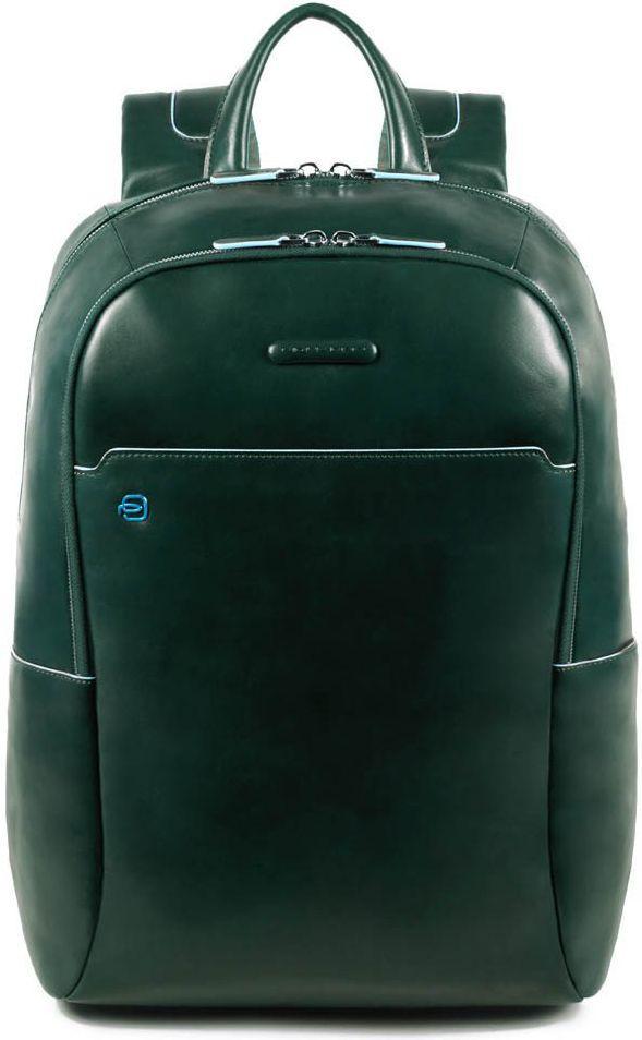 Рюкзак кожаный Piquadro Bl Square зеленый 19 л