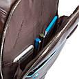 Рюкзак кожаный Piquadro Bl Square зеленый 19 л, фото 2