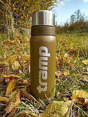 Термос Tramp 0.75л. оливковый TRC-031-olive. термос трамп