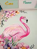 """Бесплатная доставка! Коврик для детской  """"Единорог и фламинго"""" 1,6 на 2.3 м, фото 7"""