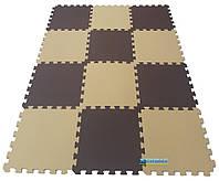 Коврик пазлы «Капучино», EVA, 12 элементов, 1920×1440×10мм,площадь 2,7м²,  плотность 100кг/м³