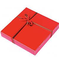 Подарок корпоративный Шоколадные конфеты ручной роботы *Красная коробка на 16шт.*