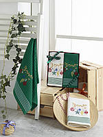 Набор вафельных полотенец с вышивкой KARNA HAPPY40*60 см