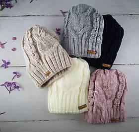 В'язана шапка для дівчаток Розмір 52-54 Мікс колір. 2473(52-54) Vertex Україна