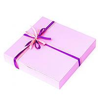 Подарок корпоративный Шоколадные конфеты ручной роботы *Розовая коробка на 16шт.*