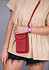 Сумка клатч с карманом для телефона + часы в подарок, фото 5