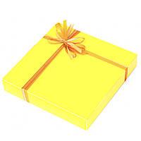 Подарок корпоративный Шоколадные конфеты ручной роботы *Желтая коробка на 16шт.*