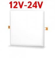 Светодиодный светильник универсальный SL UNI-24-S 24W 12-24V DC 5000K квадратный. бел. Код.59681
