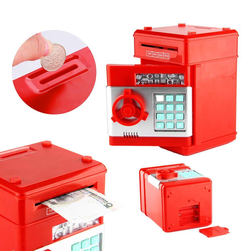 """Скарбничка школяра """"Сейф банкомат"""" з кодовим замком і купюропріємником"""