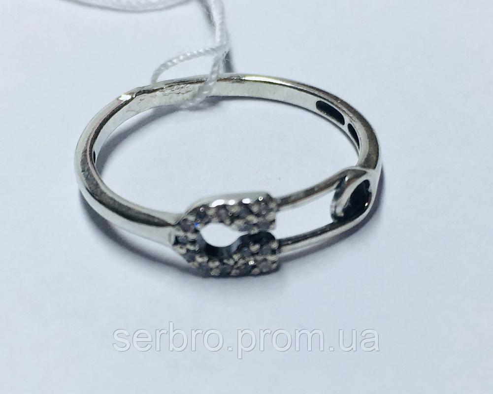 Колечко в сріблі з цирконом Булавка