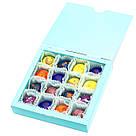 Подарок корпоративный Шоколадные конфеты ручной роботы *Бирюзовая коробк на 16шт.*, фото 2