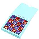 Подарок корпоративный Шоколадные конфеты ручной роботы *Бирюзовая коробк на 16шт.*, фото 3