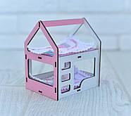 Игрушечная двухъярусная кровать домик NestWood для кукол Белый с розовым (rkml009r), фото 3