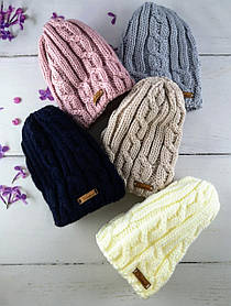В'язана шапка для дівчаток Розмір 52-54 Мікс колір. 2525(52-54) Vertex Україна