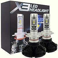 LED лампы комплект X3 Н7 (ZES, 6000LM, 50W) Лед лампы.