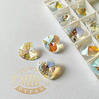 Стеклянная подвеска Сердце, 12 мм, Crystal Shimmer, 1шт