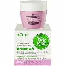 Bielita - Pure Green Крем-праймер матирующий дневной для жирной, комбинир. кожи 50ml, фото 2