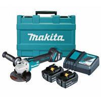 Аккумуляторная бесщеточная болгарка Makita DGA504RFE + 2 акб 18 V 3 Ah + з/у + кейс
