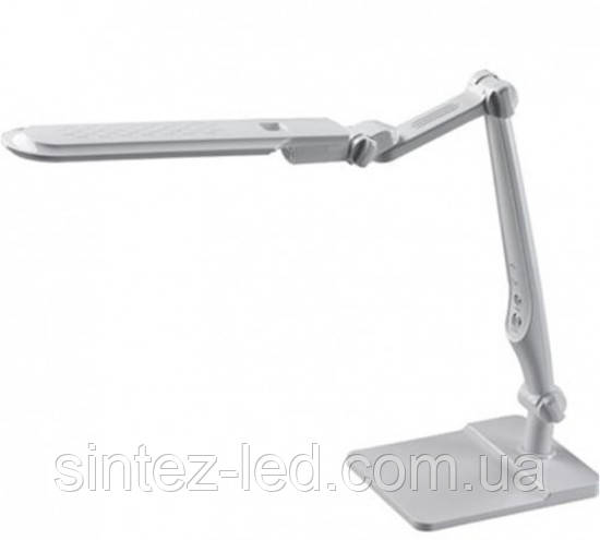 Светодиодная настольная лампа EBRU SL- 1107 10W белая, сенсор, диммер, универсальная Код.58907