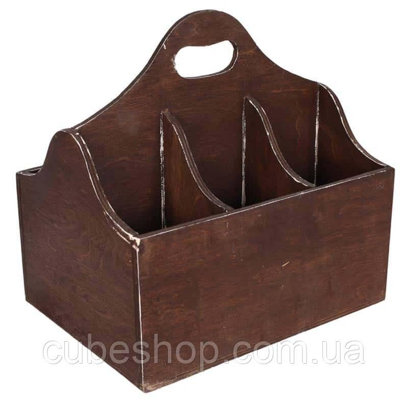 "Деревяннаякорзина для вина ""Лион"" коричневый"