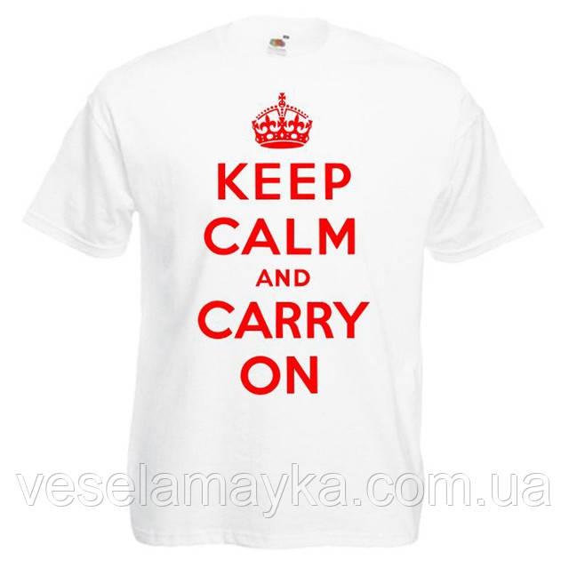 """Футболка """"Keep Calm and Carry On"""""""