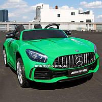 Двухместный детский электромобиль M 3905 EBLR-5 Mercedes, зеленый