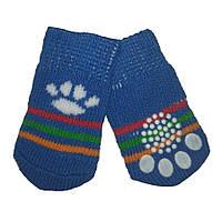 Носки для собак «Синие лапки», размер S 4 шт.