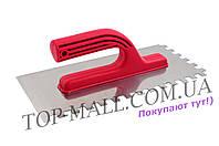 Гладилка Intertool - 280 х 130 мм, зуб 6 х 6 мм