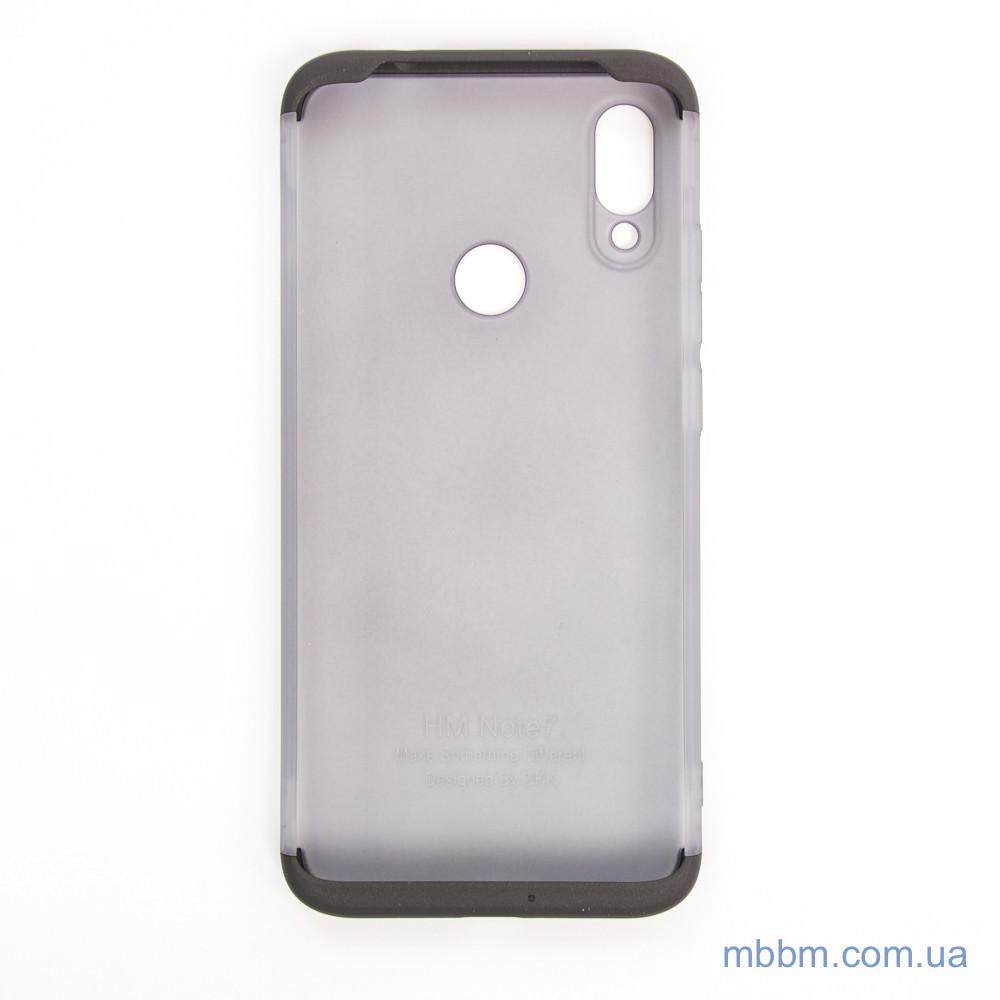 Чохол GKK LikGus 360 * матова Xiaomi Redmi Note 7 Black / Transparent