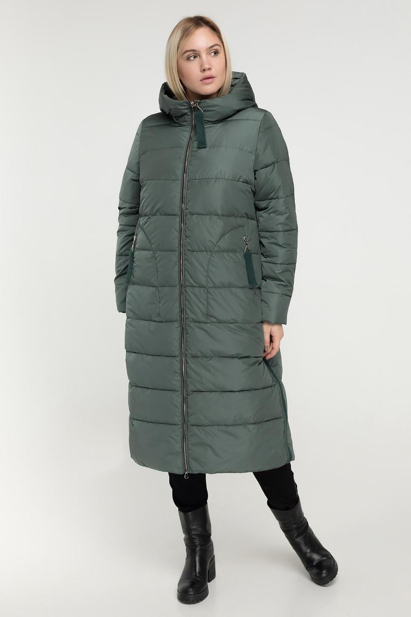 Ексклюзивне тепле пальто-пуховик, великі розміри