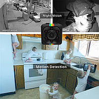 МИНИ камера SQ11 для дома. Ночное видео, датчик движения, видеорегистратор, экшн. Mini Cam HD 1080 P.