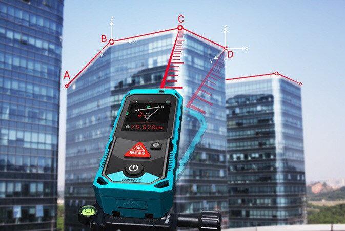 Лазерная рулетка Mileseey P7 80 м уровень угломер камера IP65