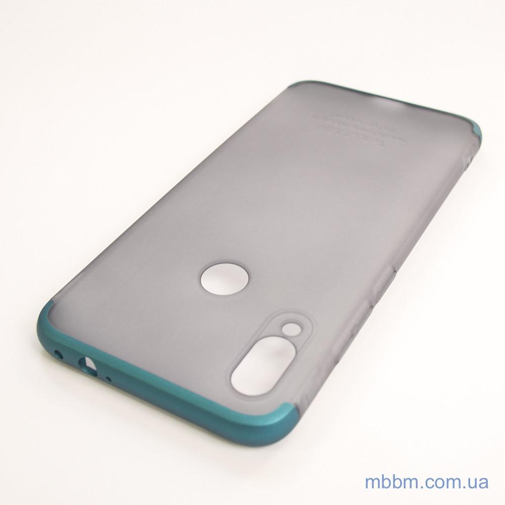 Чехлы для Xiaomi Redmi Note 7 GKK LikGus 360* матовая Turquoise Transparent