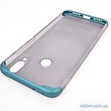 Накладка GKK LikGus 360* матовая Xiaomi Redmi Note 7 Turquoise/Transparent, фото 5