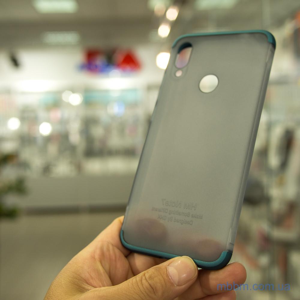 Накладка GKK LikGus 360* матовая Xiaomi Redmi Note 7 Turquoise/Transparent