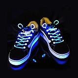Светящиеся шнурки для обуви 2Life LED SHOELASE White (n-63), фото 5